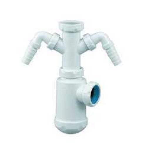 Сифон для раковины под донный клапан с двумя отводами под стиральную машину S-70 2428 JIMTEN 101395