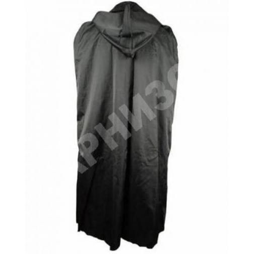 Плащ накидка генеральская черного цвета-10587