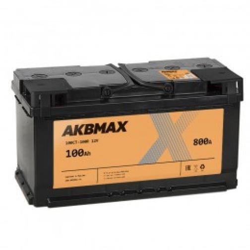 Автомобильный аккумулятор AKBMAX AKBMAX 100R 800А обратная полярность 100 А/ч (352x175x192)-6663932