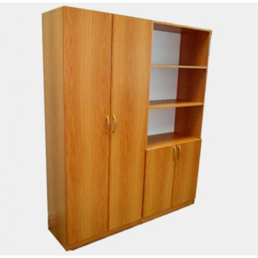 Шкаф из 2-х частей (платяной и стеллаж)-686902