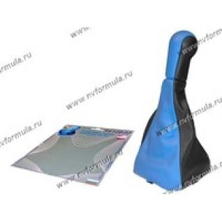 Ручка КПП 2113-15 Сфера кожзам+чехол синяя-431219