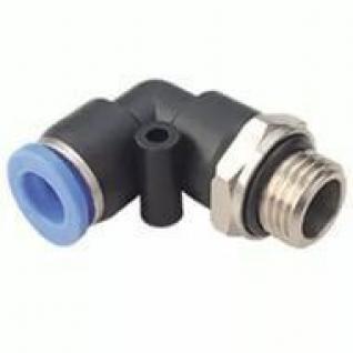 """Фитинг угловой для пластиковых трубок 6мм с наружной резьбой 1/4"""" Partner-6003659"""