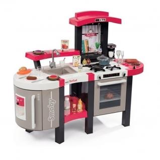 Электронная кухня Tefal Super Chef Deluxe (звук), серо-розовая Smoby-37721710