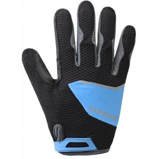 Перчатки Shimano, Explorer, длин.пал. син/черн Xl