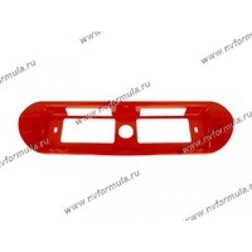 Рамка катафот заднего номерного знака 2110 красная-433267