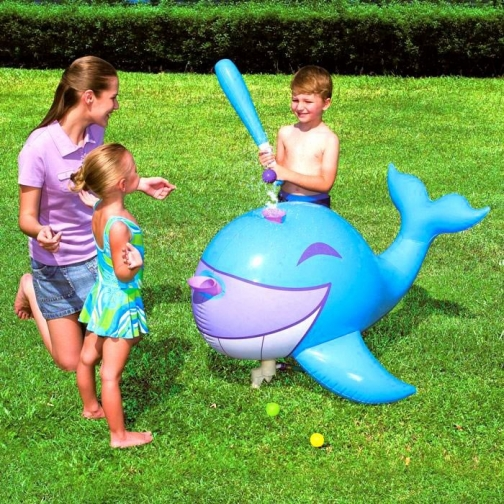 Надувной кит для игры в бейсбол Interactive Whale Ball-Pop Sprinkler-5365314