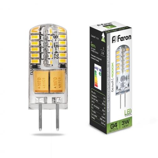 Светодиодная лампа Feron LB-422 (3W) 12V G4 4000K-8164393