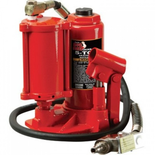 Домкрат бутылочный пневмогидравлический 5 т (h min 210мм, h max 430мм) Big Red-6004218