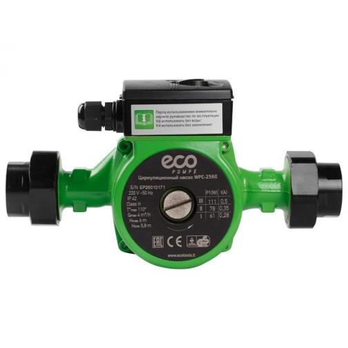 Насос циркуляционный ECO WPC-2560 (111/78/61Вт, 4000 л/ч, 6м) ECO 6003997