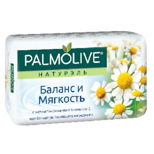 Мыло туалетное 90г PALMOLIVE Баланс и мягкость (экстракт ромашки и вит Е)-37869395