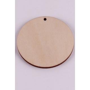 Круг из дерева с перфорацией (5 см, 5 шт)