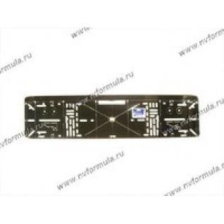 Рамка номерного знака хром 2 защелки-432715