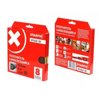 """Уплотнитель """"D"""" коричневый 9х8мм 6м STARFIX (SF1012-02) STARFIX-6004891"""