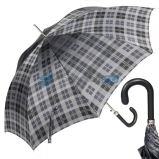 """Зонт-трость """"Классическая клетка"""" серый"""