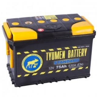 Автомобильный аккумулятор ТЮМЕНЬ STANDARD ТЮМЕНЬ STANDARD 75L(L3) 630А прямая полярность 75 А/ч (278x175x190)-6035997