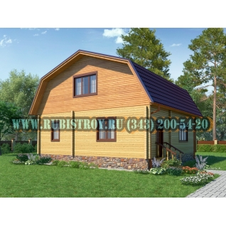 "Проект ""ШАЛИНСКИЙ"" из профилированного бруса 145 х 140 мм, размер 9 х 9, площадь дома 135 кв.м."