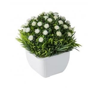 """Искусственный цветок """"GRASS"""" белый-7170146"""