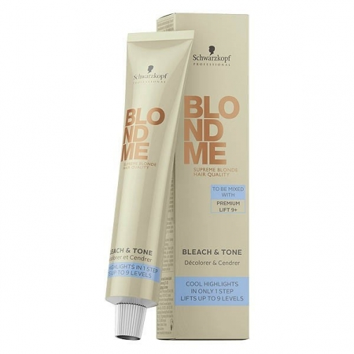 Schwarzkopf BlondMe Bleach & Tone Cool Toner Cream - Нейтрализующий тонер для обесцвечивания-4942524