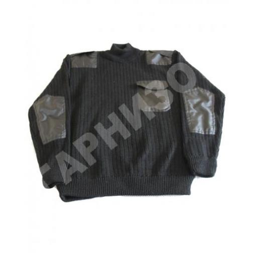 Свитер уставной черного цвета с карманом