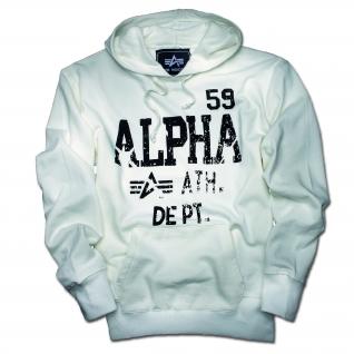 Alpha Industries Толстовка Alpha Industries Athletic Dept., цвет белый-5024310