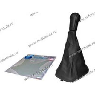 Ручка КПП 2110-12 Сфера кожзам+чехол черная-431224