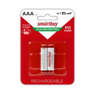 Аккумулятор Smartbuy 800 mAh AAA/2BL NiMh 2шт/бл (SBBR-3A02BL800)