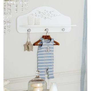 Полка-вешалка Baby Expert Вешалка для одежды Diamante белая