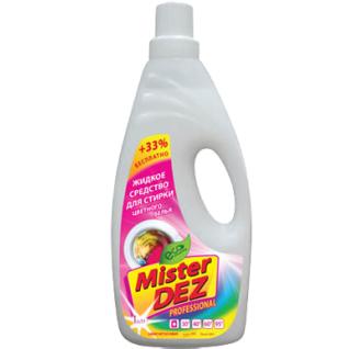932-Mister DEZ PROFESSIONAL жидкое средство для стирки цветных тканей 1000 мл-6435014