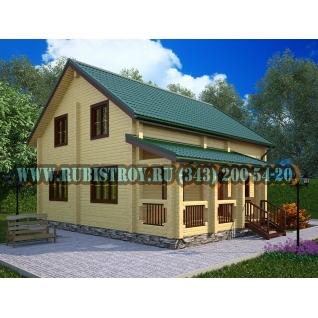 """Проект """"ЧУСОВСКОЙ"""" из профилированного бруса 145 х 190, размер 10,0 х 10,0 м., площадь дома 150,0 кв.м."""