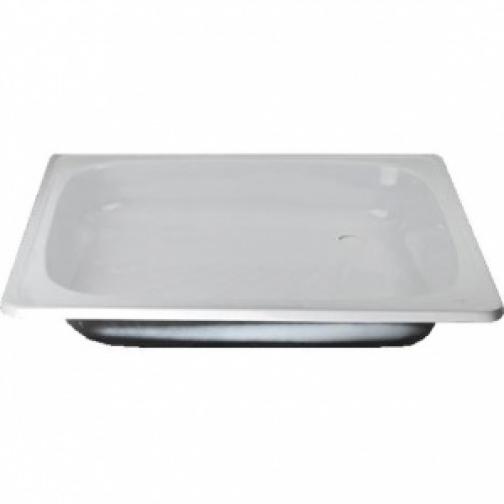 Поддон душевой стальной 900Дх900Ш квадратный, эмалированный, без каркаса, белый 8167033