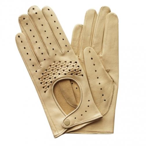 Edmins Перчатки женские кожаные без подкладки Edmins Э-20L мод. 213 бежевый-5992460