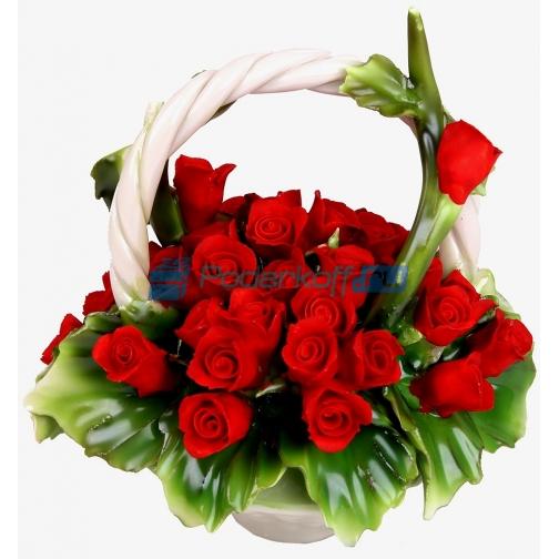 """Цветы из фарфора """"Изысканность""""-762412"""