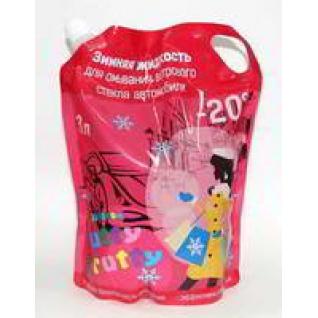 Жидкость незамерзающая DELTA 3л до -20 упаковка дойпак с запахом TUTTY FRUTY-9056336