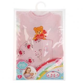 Одежда для кукол 'Карапуз' 40-42см, костюм ползунки, кофта, шапка 'медведь с сердечком' в кор.100шт-37797072