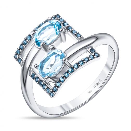 Серебряное кольцо с топазом TEOSA R-DRGR00829-T R-DRGR00829-T TEOSA-8918386