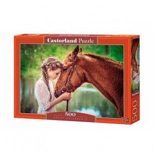 """Пазл """"Девушка и лошадь"""", 500 элементов Castorland-37707829"""