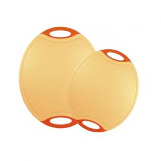 Кухонные разделочные доски Steuber GmbH Разделочная доска с антибактериальной защитой Microban® овал оранжевая NW-CBM-O-O