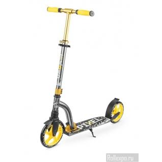 Самокат Trolo PIXEL с передним амортизатором и колесами 200мм (желтый)