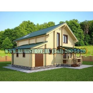 "Проект ""АНГАРСКИЙ"" из профилированного бруса 145 х 190 мм, размер 14 х 8, площадь дома 151 кв.м."