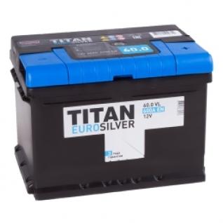 Автомобильный аккумулятор TITAN Titan Euro 60R (низкий) 600А обратная полярность 60 А/ч (242x175x175)-5789483