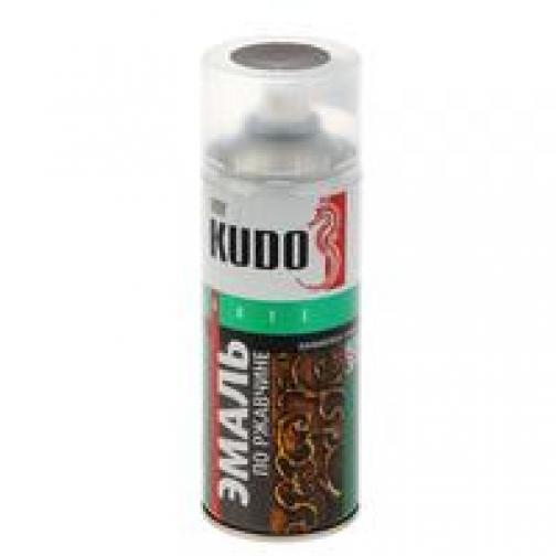 Краска по ржавчине Черно-бронзовая молотковая KUDO KU-3009 520мл аэрозольная-9056451