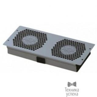 Hyperline Hyperline TFAT-T2FM-RAL9004 Модуль вентиляторный потолочный с 2-мя вентиляторами для установки в напольные шкафы серии TTC2, цвет черный (RAL 9004SN)-8956164