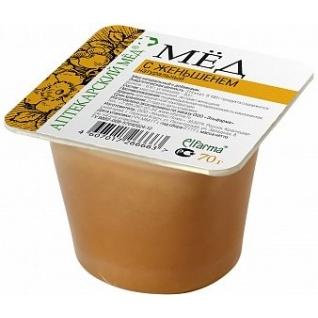 Мед с Женьшенем натуральный 70 г Эльфарма