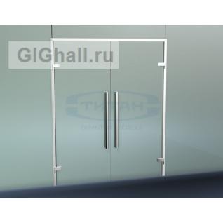 TI-804-2 Комплект AL дверной коробки в цельностеклянный проем
