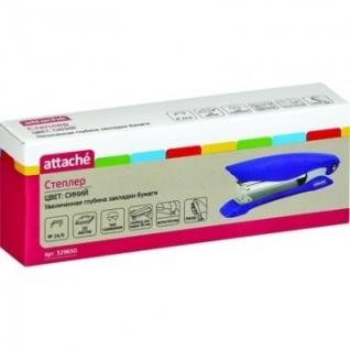 Степлер Attache №24/6 до 20л. увелич. глубина закладки синий