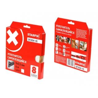 """Уплотнитель """"P"""" белый 9х5,5мм 6м STARFIX (SF1014-01) STARFIX-6004892"""