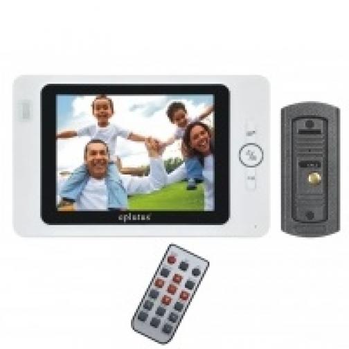 Комплект видеодомофона для квартиры, частного дома с вызывной панелью и записью на карту SD Eplutus EP-2297C-5006149