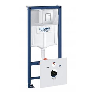 Система инсталляции для унитаза Grohe Rapid SL с панелью смыва Skate Cosmopolitan 3 режима комплект 4-в-1 113 м 38775001-6757923