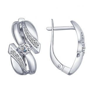 Серебряные серьги с фианитом SOKOLOV 94022530