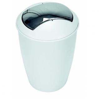Ведро для мусора Spirella ATLANTA, белый пластик 30см д.20см